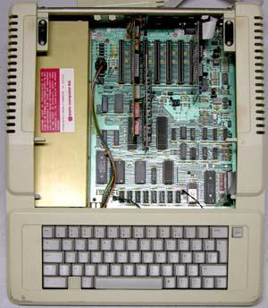 Apple IIe intérieur