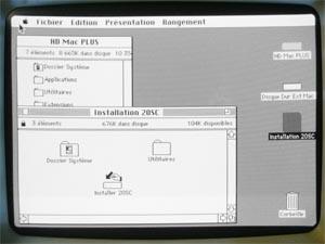 Ecran Mac plus