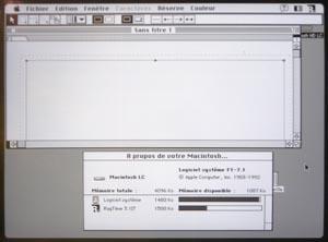 Mac LC Ecran