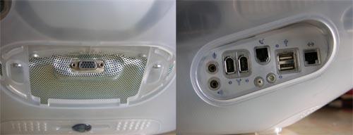 iMac 600 connectique